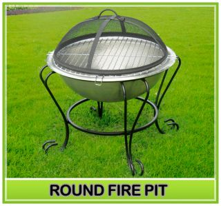 Patio Mini Fire Pit stainless Steel Stove BBQ Grill Fireplace Round