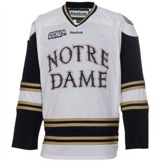 Notre Dame Fighting Irish White Reebok Edge Replica Hockey Jersey