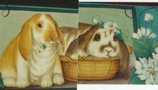 Courting Miss Daisy by Linda MC Fadden Rabbits  Acrylic