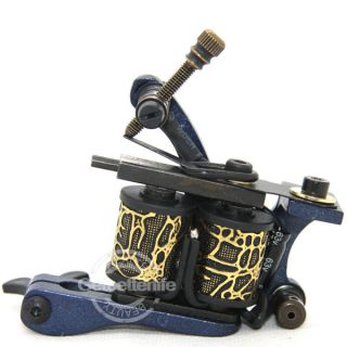 Aluminum Alloy Tattoo Machine Gun Supplies For Liner 10 Wraps Coils