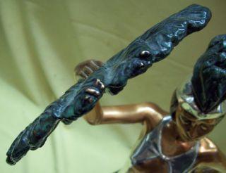 Signed DArgenta Sculpture Vintage Art Deco Figurine