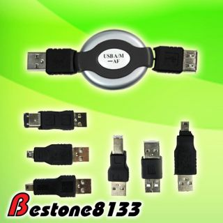 USB to IEEE 1394 Firewire Printer 6 Adapters Travel Kit
