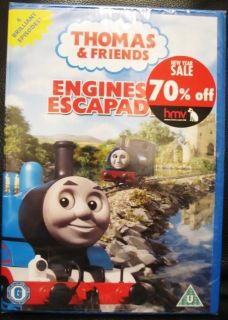 Thomas Friends Engines Escapades DVD