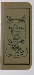 Chemical Company V C Farm Jewel Fertilizer 1924 25 Calendar