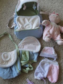 My First You Me Soft Doll Bed Carrier Diaper Bag Outfit