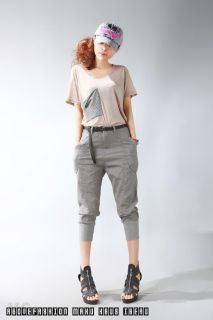 Summer Hip Hop Fashion Women Knee Length Harem Pants 2 Colors Choice