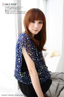 Summer Womens Girls Japanese Korean Fashion Style Star Layer Chiffon