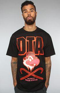 DTA   Rogue Status The DTA Clockwork Tee in Black Red