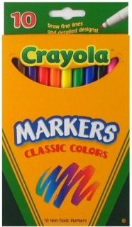 Crayola Classic Colors Fine Line Markers 10ct