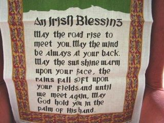 Ireland Kitchen Souvenir Tea Towel Irish Blessing by Fingal New
