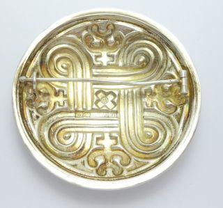 ORNATE KALEVALA KORU FINLAND STERLING BROOCH