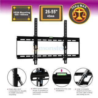 Ultra Slim Tilt LCD LED Plasma TV Wall Mount Bracket for AOC 26 29 32