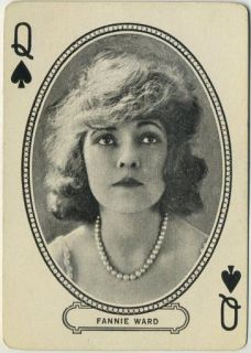 Fannie Ward 1916 MJ Moriarty Silent Film Star Playing Card
