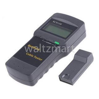 SC8108 5E 6E RJ45 CAT5 Network LAN Length Cable Tester Meter w/ Voice