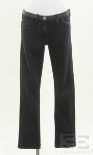 Etoile Isabel Marant Dark Denim & Leather Jeans, Size 2 NEW $470