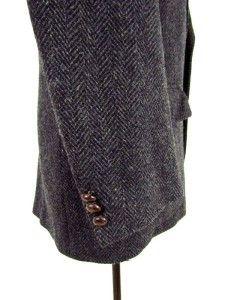Herringbone Tweed Jacket Blazer Sport Coat Wool Sz M 40 R