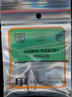 72pk Worm Weights Worm Weight Lead Fishing Sinkers