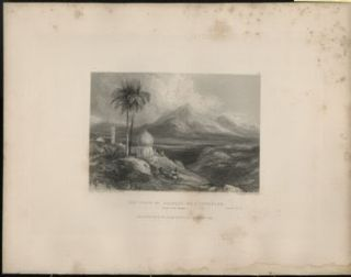 Jezreel (Holy Land) Authentic 1836 Steel Engraving W. E. Fitzmaurice