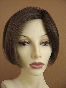 Eva Gabor  Mono Top Lace Front  Wig Two Tone Brown Petite Small