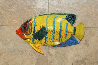 TROPICAL FISH WALL PLAQUE FISH MURAL BATHROOM DECOR POOL AREA KIDS