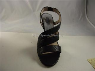 Michael Kors Farris Sandal Shoe Sling Open Toe Skinny Heel Black 7 37