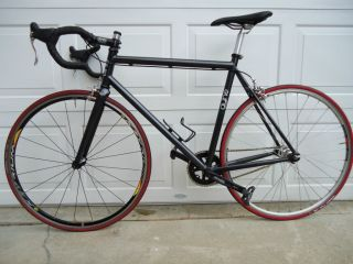 Black Fixed Gear Bike Fixie 52cm Frame