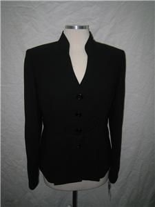 Evan Picone Pant Suit NWT Size18 Black Fully Lined $200