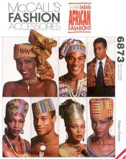 Emeaba African Fashions Hats, Headwraps & Stole McCalls 6873 Sewing