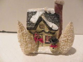 Vintage Brush Tree Teena Flanner Midwest House snowman Christmas
