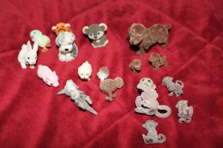 Lot of Puppy and Zoo in My Pocket Ostrich tiger Monkey babies Kangaroo