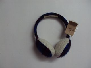 Womens Comfy Earmuffs Navy Blue & Faur Fur One Size New with Tags