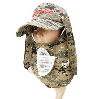 Hot Fishing Hat Cap Detachable Camouflage Hooded with Adjustable