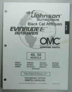 1997 OMC Parts Catalog Evinrude Johnson 40 50 HP Outboards 13 Models