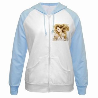 Taylor Swift Fearless Ladies Raglan Hoodie Jacket s XL