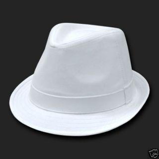 White Basic Woven Fedora Hat Hats Fedoras Size L XL