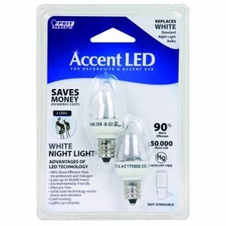 Feit Electric BPC7 LED Three LED Night Light Bulb with Candelabra Base