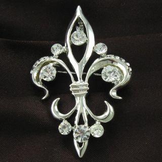 Fleur de Lis Lily Flower Costume Great Designer Brooch Pin Pendant