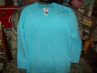 Ladies Quacker Factory Studded sweat Shirt Size Medium