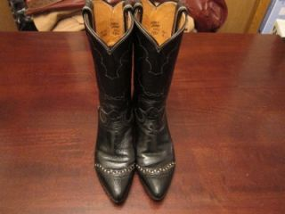 Vtg Tony Lama Womens USA Made Exotic Reptile Leather Western Cowgirl