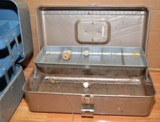 fishing tackle boxes Union Liberty + reel lures hooks more parts or