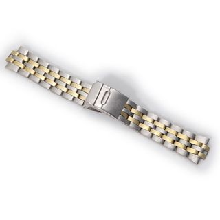 Homme Silver Golded 24mm Stainless Steel Wrist Watch Band AK223