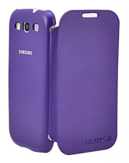 Classic Purple PU Leather Flip Case Cover for Samsung Galaxy S3 SIII