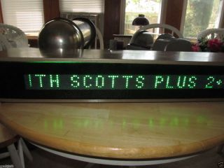 Lighted Scrolling Sign Scotts Fertilizer 1950s 1960S