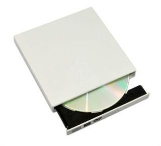 White Slim External USB 2 0 DVD CD±RW Combo Burner Player Drive Lucky