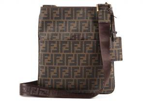Fendi Mens Cross Body Messenger Bag in PVC 7va207uzdf0fa7spi Brown