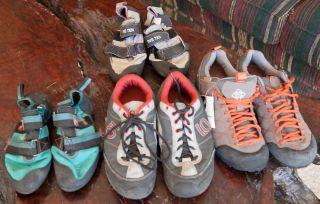 Five Ten 5.10 Approach Rock Climbing Shoes 4 Pair Warhawk, Anazazi