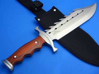 Timber Rattler Fantasy Sawback Fixed Blade Bowie Hunting Knife New