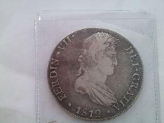 Ferdin VII 1812 8 Reales Mexican Coin