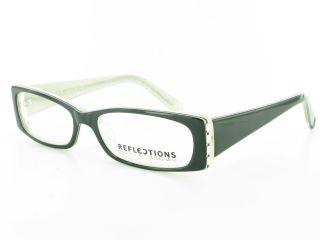 Plastic Rhinestone Ladies Eyeglass Frames Rectangular Womens