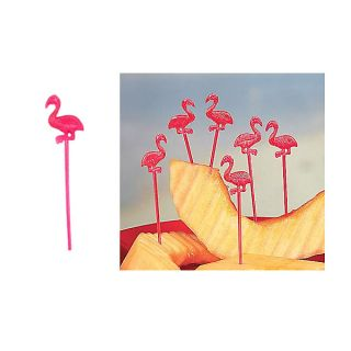 Flamingo Party Martini Cocktail Picks – Set of 72